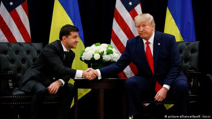 Володимир Зеленський та Дональд Трамп під час зустрічі у Нью-Йорку у вересні 2019 року