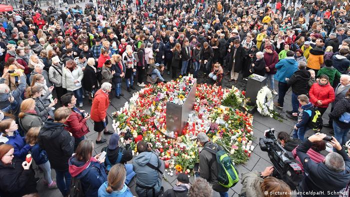 Homenagem às vítimas do ataque em Halle