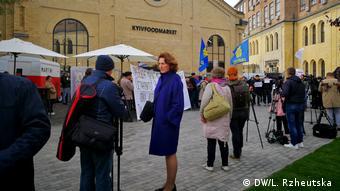 Акція протесту біля місця проведення пресмарафону