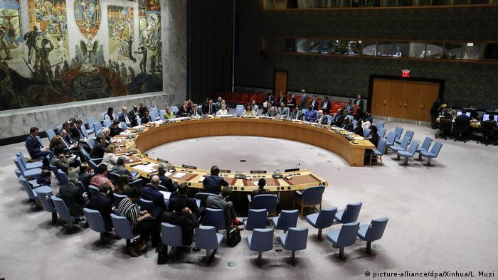 UN-Sicherheitsrat in New York (picture-alliance/dpa/Xinhua/L. Muzi)
