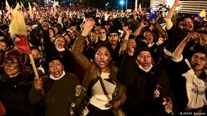 Ecuador Protest gegen Preiserhöhungen für Treibstoffe