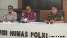Pressekonferenz Indonesien Polizei Dedi Prasetyo