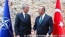 Türkei Ankara NATO-Generalsekretär Stoltenberg und Außenminister Cavusoglu