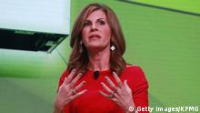 KILDEER, IL - JUNE 27: Jennifer Morgan, President of the Americas at SAP, speaks on stage during the KPMG Women's Leadership Summit prior to the start of the KPMG Women's PGA Championship at Kemper Lakes Golf Club on June 27, 2018 in Kildeer, Illinois. (Photo by Scott Halleran/Getty Images for KPMG)