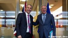 Brüssel britische Brexit-Sekretär Barclay mit EU-Chefunterhändler Barnier