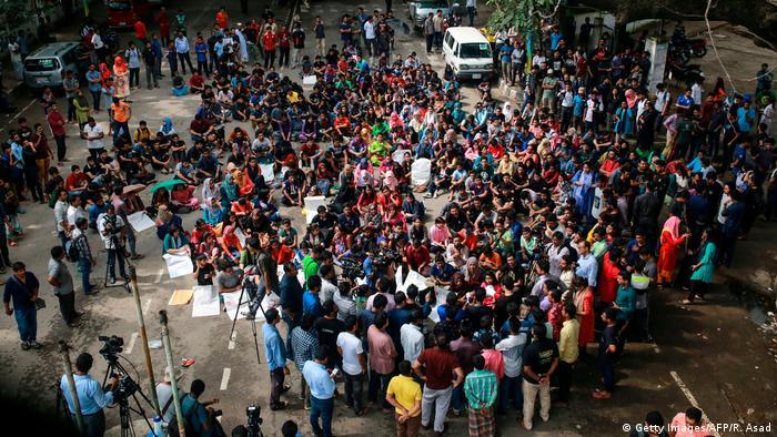 Bangladesch Dhaka | Proteste wegen Mord an einen Studenten