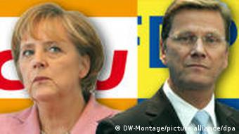 Chancellor Angela Merkel and Free Democrat leader/Foreign Minister Guido Westerwelle