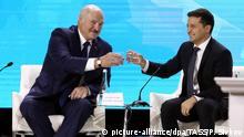 Ukraine Schytomyr | Alexander Lukashenko und Wolodymyr Selenskyj beim zweiten Forum der Regionen Weißrussland und Ukraine