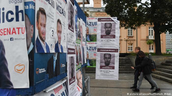 Предвыборные плакаты в Польше