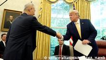USA Liu He und Donald Trump in Washington