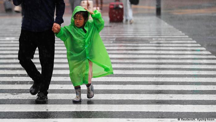 Japan Taifun in Tokio
