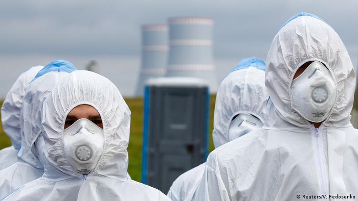 BDTD Weißrussland l Sicherheitsübung Kernkraftwerk (Reuters/V. Fedosenko)