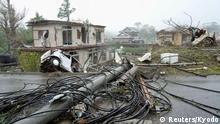 Japan Unwetter l Zerstörung durch den Taifun Hagibis in Ichihara