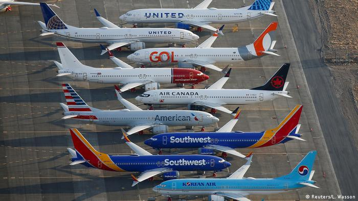 Geparkte 737-MAX-Jets am Flughafen Moses Lake (Reuters/L. Wasson)