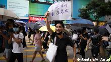 China Hongkong l Anti-Regierungsproteste - Demonstrant Hongkong China l Anti-Regierungsproteste