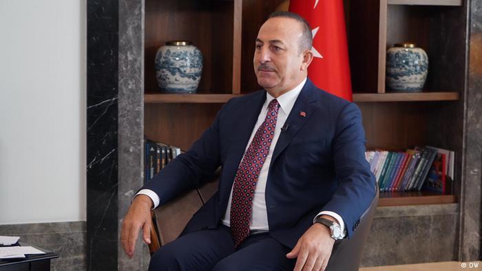 Mevlüt Çavuşoğlu in a DW interview