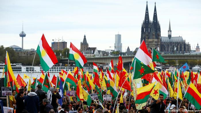 Köln | Proteste der Kurden gegen der türkischen Militäroffensive in Syrien