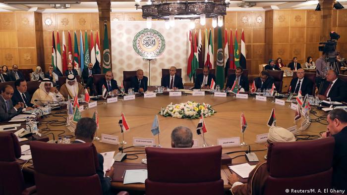 Los ministros de Asuntos Exteriores de la Liga Árabe sostuvieron una reunión de urgencia en El Cairo para discutir la ofensiva militar turca en el norte de Siria (12.10.2019)
