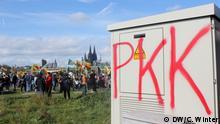 Deutschland Kurden protestieren in Köln gegen die türkische Militäroffensive in Syrien