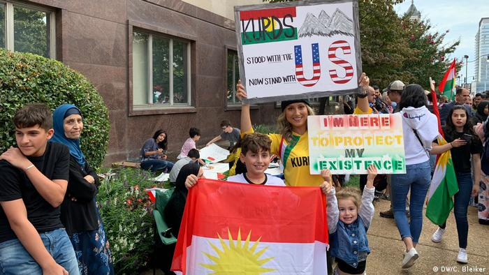 Protestierende auf der Kurdish Peace Rally