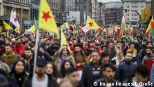 Deutschland Proteste in Hamburg gegen der türkischen Militäroffensive in Nordsyrien