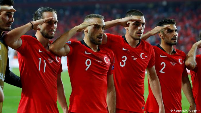 Turkish football team's military salute to be 'examined' by UEFA