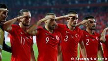 Soccer Football - Euro 2020 Qualifier - Group H - Turkey v Albania - Sukru Saracoglu Stadium, Istanbul, Turkey - October 11, 2019 Turkey's Cenk Tosun celebrates scoring their first goal with team mates REUTERS/Huseyin Aldemir