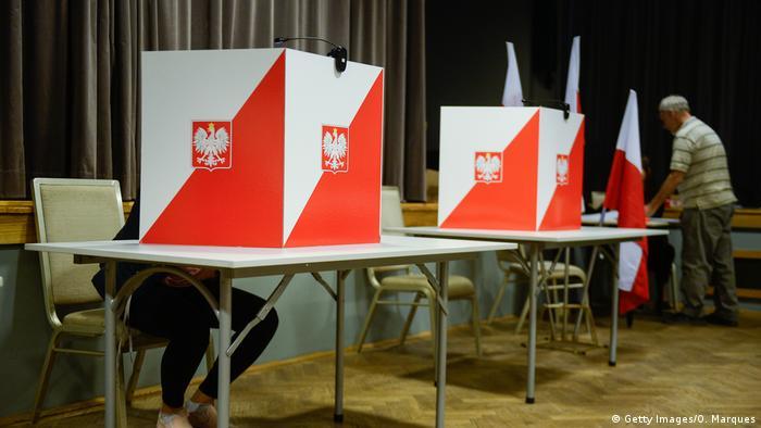 На избирательном участке в Варшаве