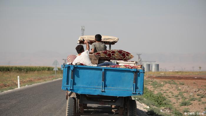 Nusaybin Mardin Flucht von Zivilisten in Syrien