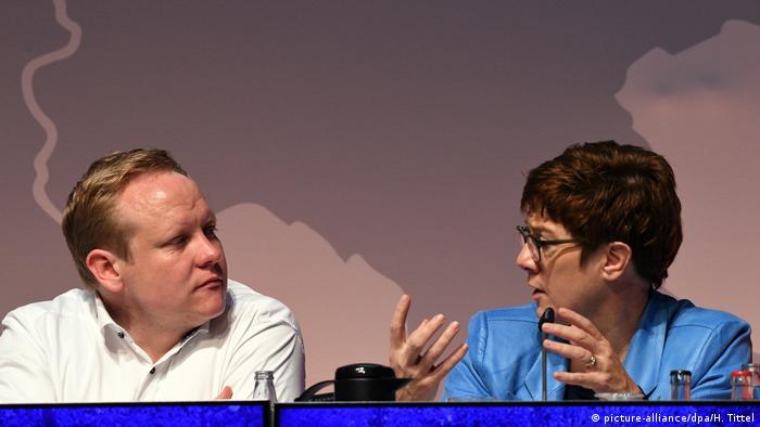 Tilman Kuban and Annegret Kramp-Karrenbauer