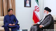 Imran Khan und Ali Khamenei in Iran