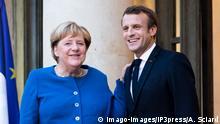 Frankreich Merkel und Macron wollen bei Krisen zusammenstehen