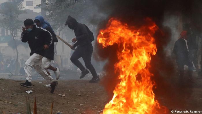 En Ecuador, como en Chile, se produjeron incidentes violentos.