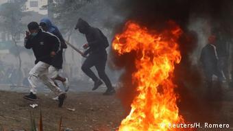 Las protestas en Ecuador.