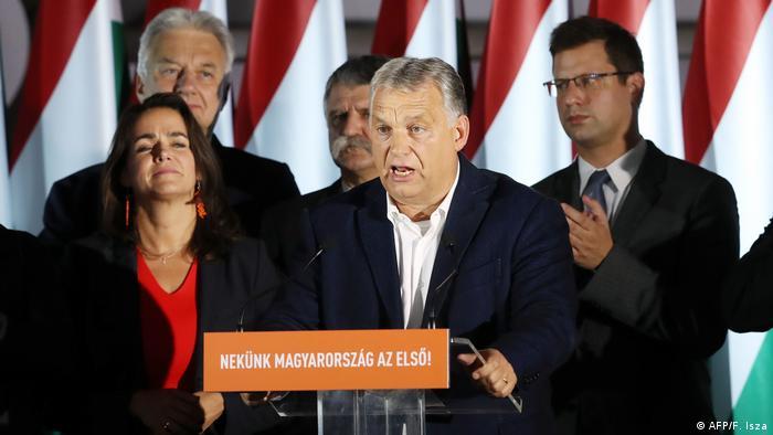 Ungarn Budapest Bürgermeister-Wahl - Rede Orbán