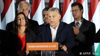Ungarn Budapest Bürgermeister Wahl Rede Orban (AFP/F. Isza)