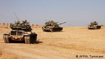 تانکهای ترکیه در شمال منبج