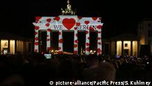 Germany: In Berlin, many buildings are illuminated spectacularly at the Festival of Lights and at Berlin lights. The photo shows the Berlin Cathedral (Photo by Simone Kuhlmey / Pacific Press) | Verwendung weltweit, Keine Weitergabe an Wiederverkäufer.