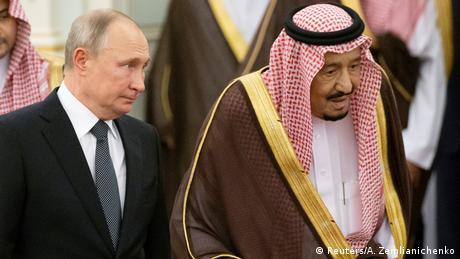 الملك سلمان بن عبد العزيز والرئيس فلاديمير بوتين في لقاء سابق، أرشيف.
