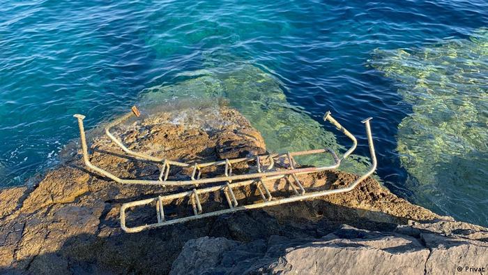 Skalice na Lokrumu koje je naš sugovornik izronio s dna mora - on vjeruje da se tamo nisu slučajno našle