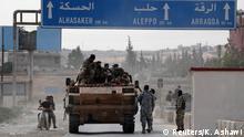 Syrien Tel Abyad | Syrische Kämpfer, unterstützt durch Türkei