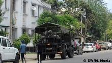 Gepanzertes Fahrzeug in Quelimana