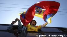 Proteste gegen die Regierung in Quito, Ecuador