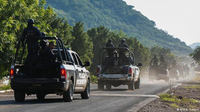 Mexiko Angriff auf Polizisten in El Aguaje - mindestens 14 Tote (AFP/E. Castro)