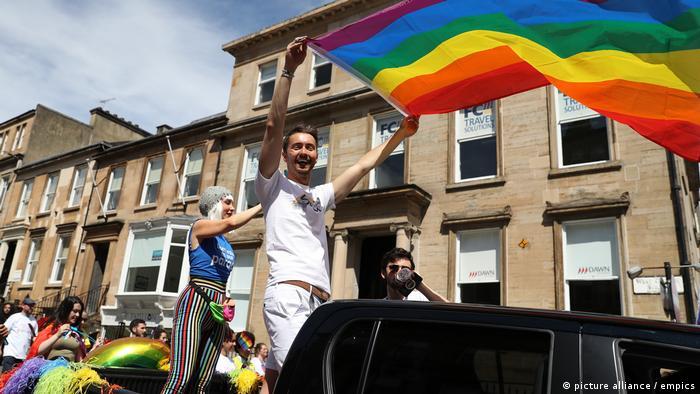 Scotland Pride parade in Glasgow