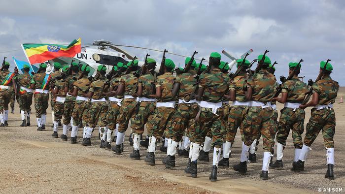 Ethiopian troops serving under AMISOM