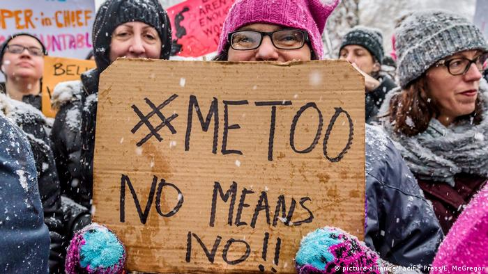 USA New York | #MeToo Rally vor dem Trump International Hotel am Columbus Circle (picture-alliance/Pacific Press/E. McGregor)