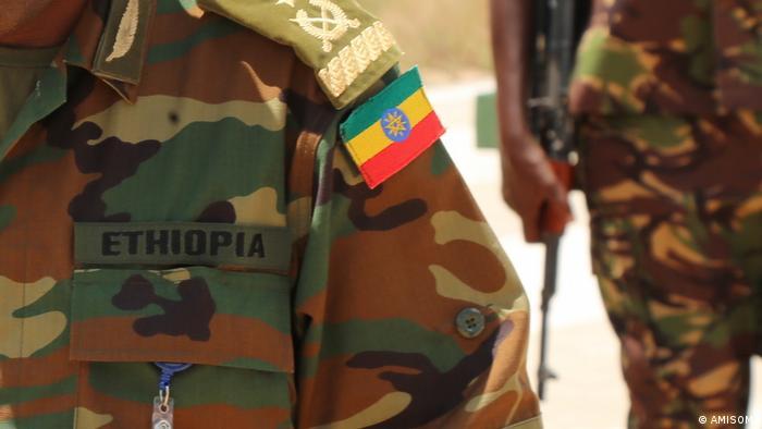 Ausschnitt | AMISOM-Kommandant Tigabu Yilma Wondimhunegn beim Truppenbesuch in Dhoobley