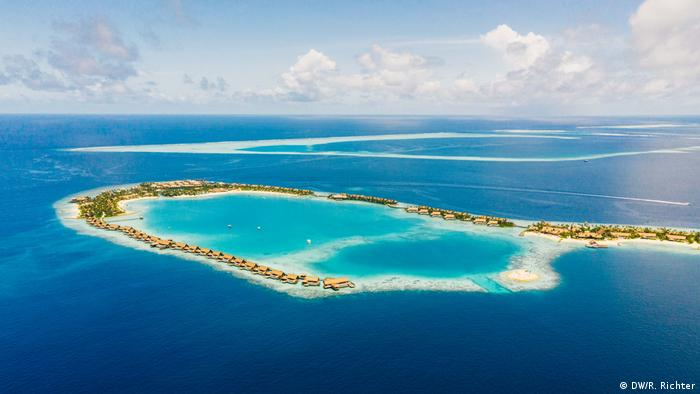The Maldives in the Indian Ocean