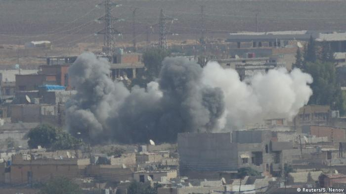 Explosions in the Syrian town of Ras al-Ayn
